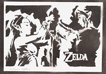 Zelda Et Link Handmade Street Art - Artwork - Poster