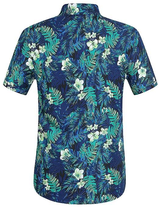 0ad9b607a SSLR Men's Jungle Prints Casual Short Sleeve Aloha Hawaiian Shirt at Amazon Men's  Clothing store: