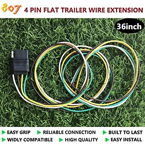 Amazon.com: 807 4 Way Flat/Square Trailer Wire Connector,4 ... on