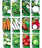 12 varietà | Assortimento di semi di ortaggi | oltre 14000 semi | set completo di avviamento | miscela robusta | Basta portare a casa le tue verdure con il nostro seme di qualità selezionato