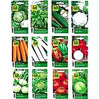 12 variétés | Assortiment de graines de légumes | plus de 14000 graines | ensemble de départ complet | mélange robuste | Il suffit de tirer vos propres légumes à la maison avec nos semences de qualité