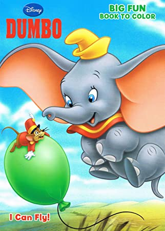 disneys dumbo coloring book i can fly 96 page big fun - Dumbo Pictures To Color