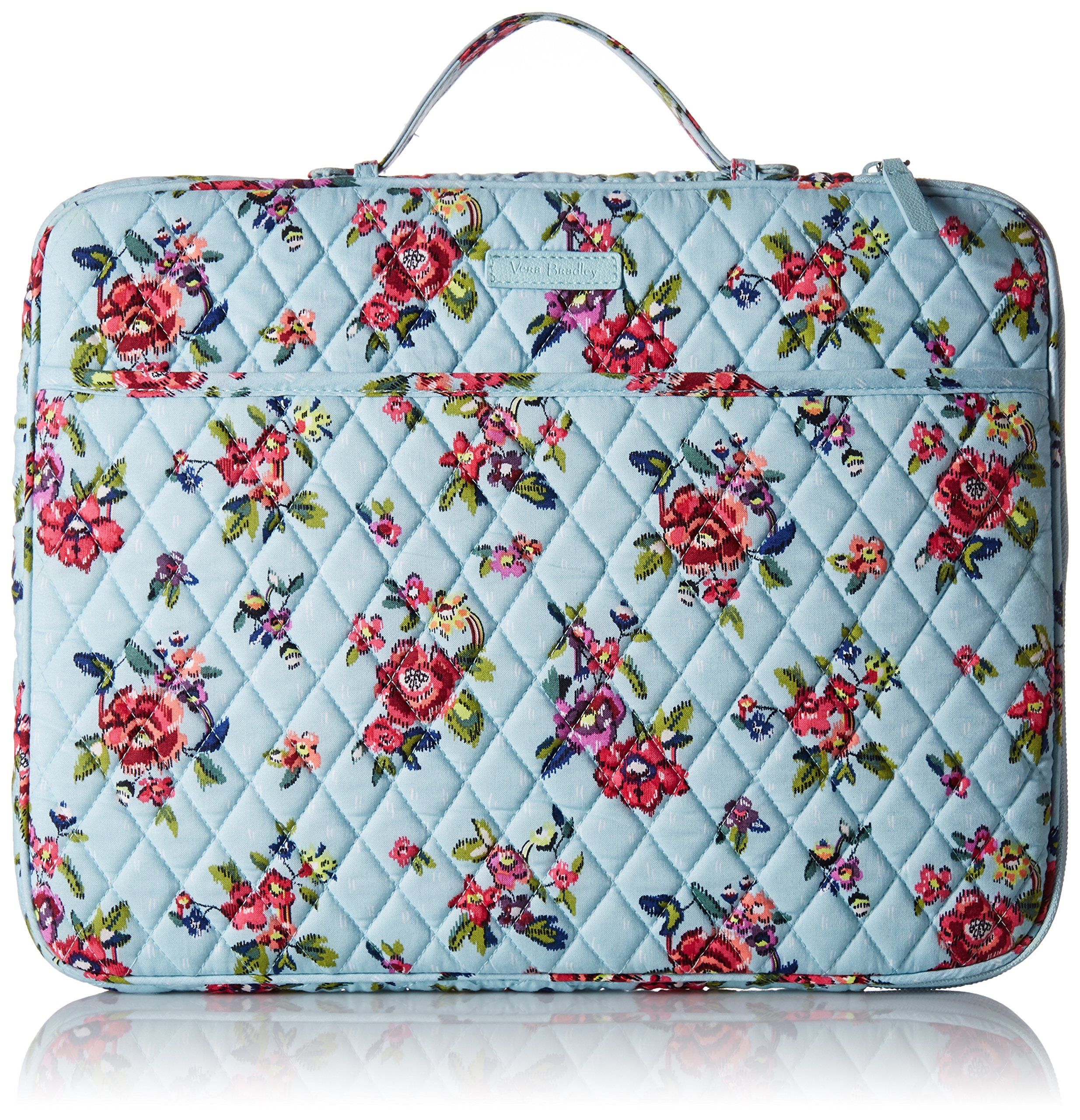 Vera Bradley Laptop Organizer, Signature Cotton, Water Bouquet