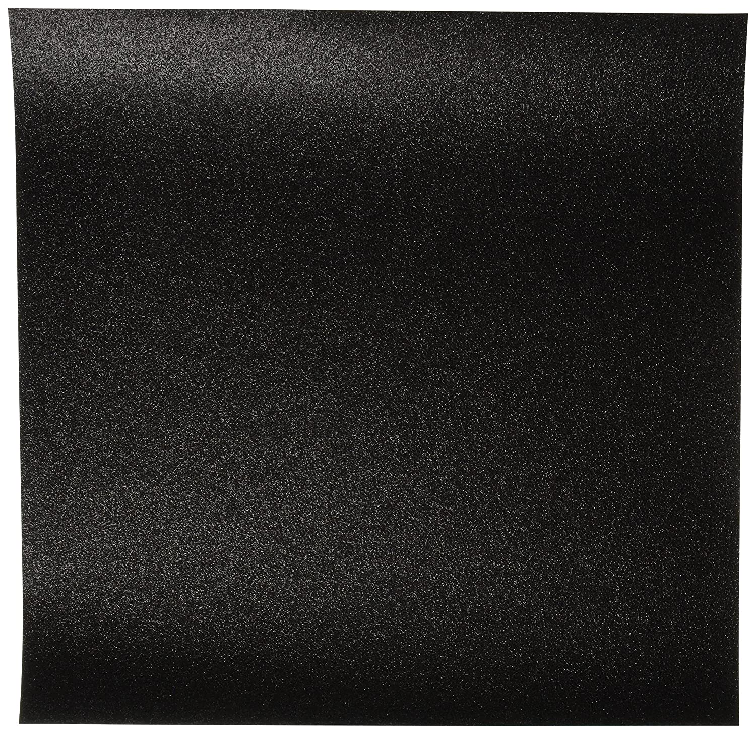 Glitter Cardstock 12-Inch by 12-Inch, Black, Pack of 15 Notions - In Network GCS-014