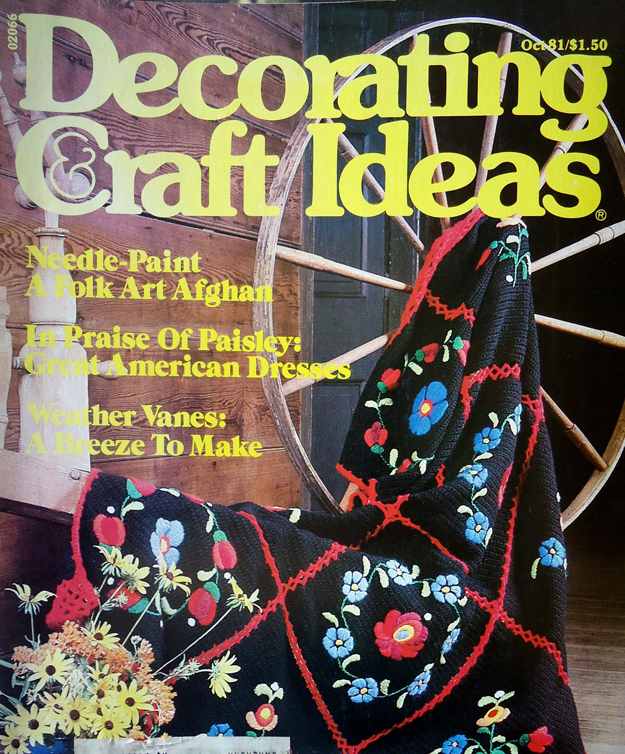 Decorating Craft Ideas Magazine October 1981 Amazon Com Books