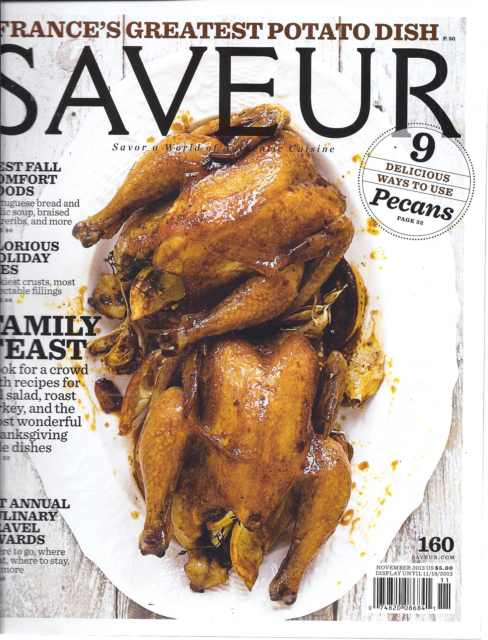 Download Saveur Magazine (November 2013) pdf epub