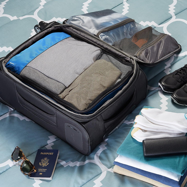 4-teilig Blau Basics Kleidertaschen-Set 2 mittelgro/ße und 2 gro/ße Kleidertaschen