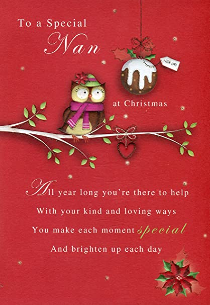 to a special nan at christmas poetry in motion christmas card - Christmas Poetry