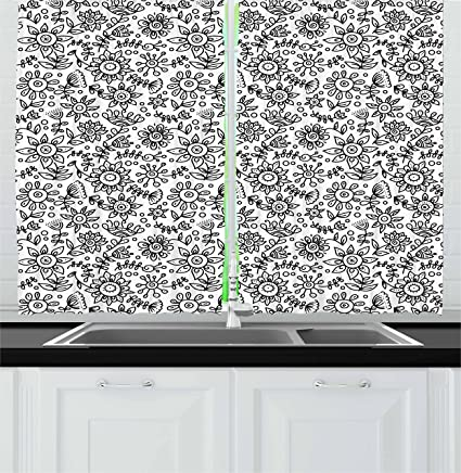 Black White Kitchen Curtains 2 Unique Decorating Ideas