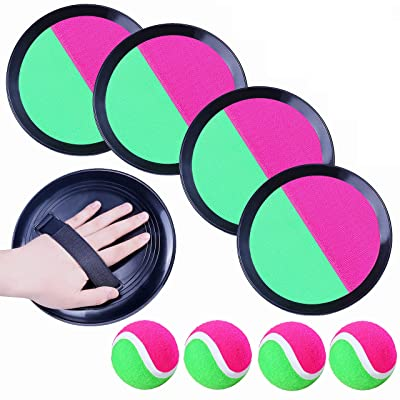 EVERICH TOY Paddle Toss and Catch Ball Set-Upgraded Version 8inch Paddle Catch Games Toy for Kids//Adults 2 Rackets,2 Big Balls,2 Small Balls,1 Bag