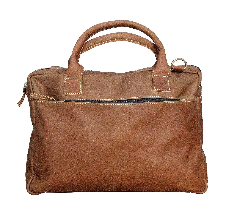 Handcrafted exports Vintage Rustic Buffalo Leather Messenger Shoulder Bag