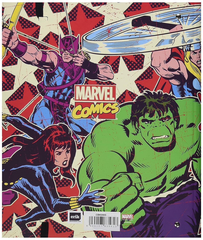 Grupo Erik Editores CBK0005 - Carpeblock con 4 anillas Marvel Comics, 32 x 27.5 cm: Amazon.es: Oficina y papelería