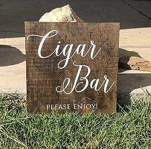 CELYCASY Cigar Bar | Wedding Bar Sign | Wood Bar Sign | Rustic Bar Sign | Rustic Cigar Bar Sign