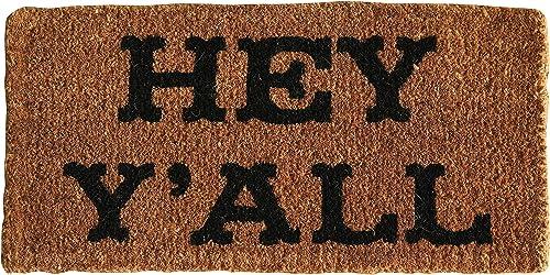Creative Co-op Hey Y all Natural Coir Doormat