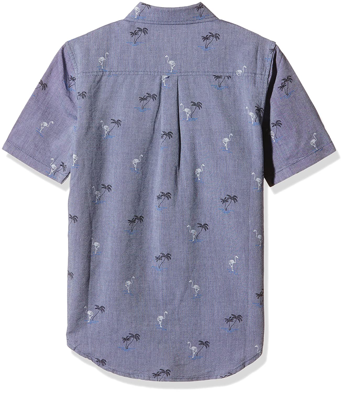 eaeeded28 Vans Houser SS Boys Shirt, Blue (Blueprint Flocking Dead), Medium:  Amazon.co.uk: Clothing