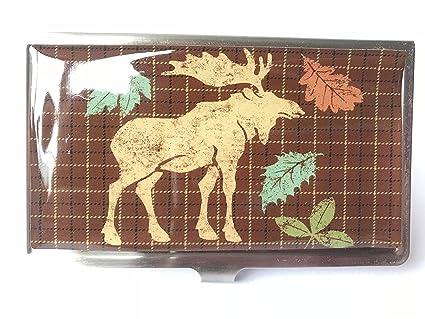 Amazon business card holder with moose fall design office business card holder with moose fall design colourmoves
