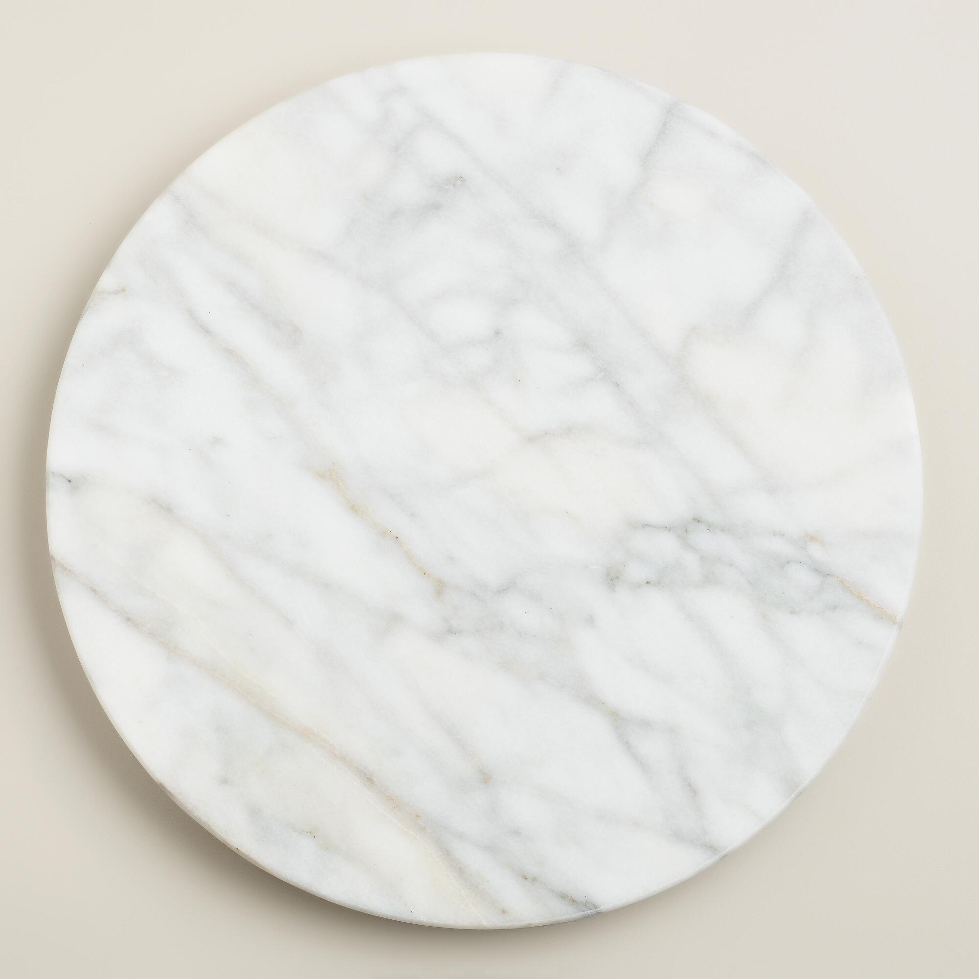 White Marble Lazy Susan | World Market