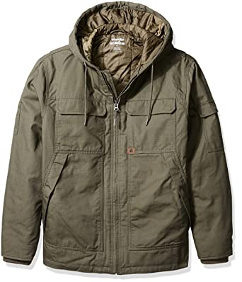 43aa6a7d Amazon.com: Wrangler RIGGS WORKWEAR Men's Big and Tall Hooded Ranger Jacket:  Clothing