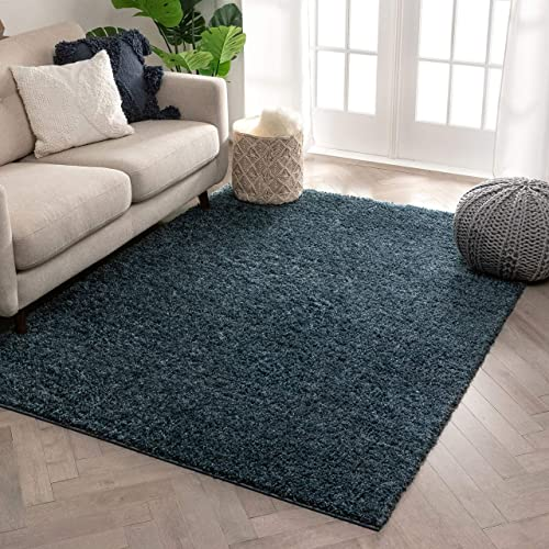 Well Woven Solid Color Light Blue Soft Shag Area Rug 9×13 9 3 x 12 6