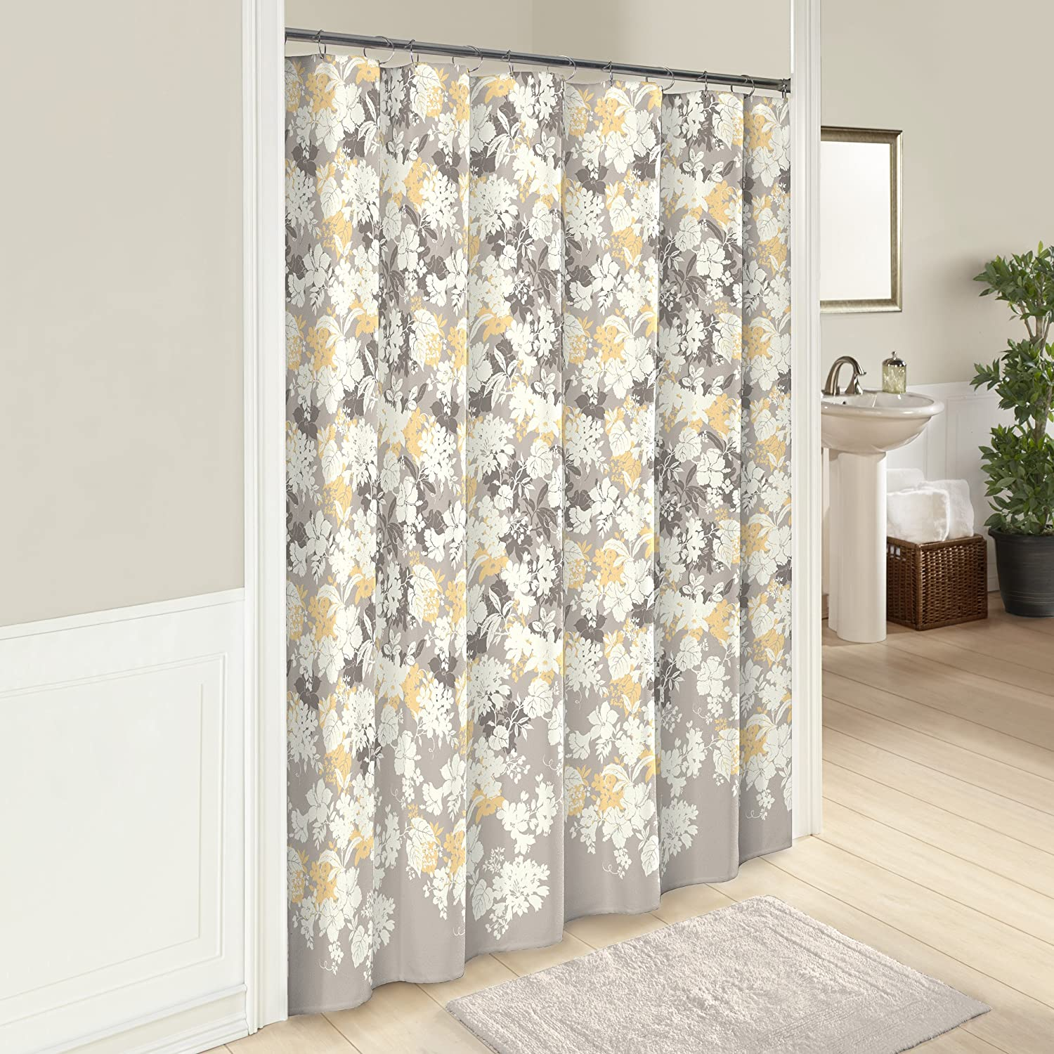 Multicolor Garden Party 72 x 72 Machine Washable Bath Curtains MARBLE HILL Shower Curtains for Bathroom