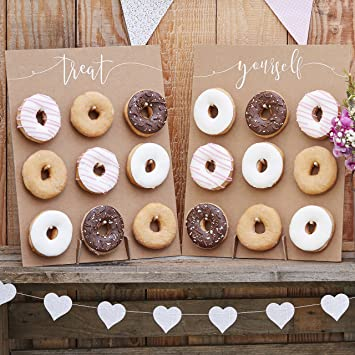 Backzubehör /& Kuchenbuffet Aufsteller für Donuts Donut-Wand für 9 Donuts