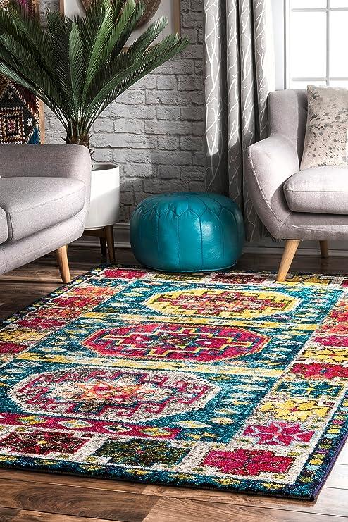 Amazon.com: nuLOOM bohemio amuletic azteca alfombra de área ...