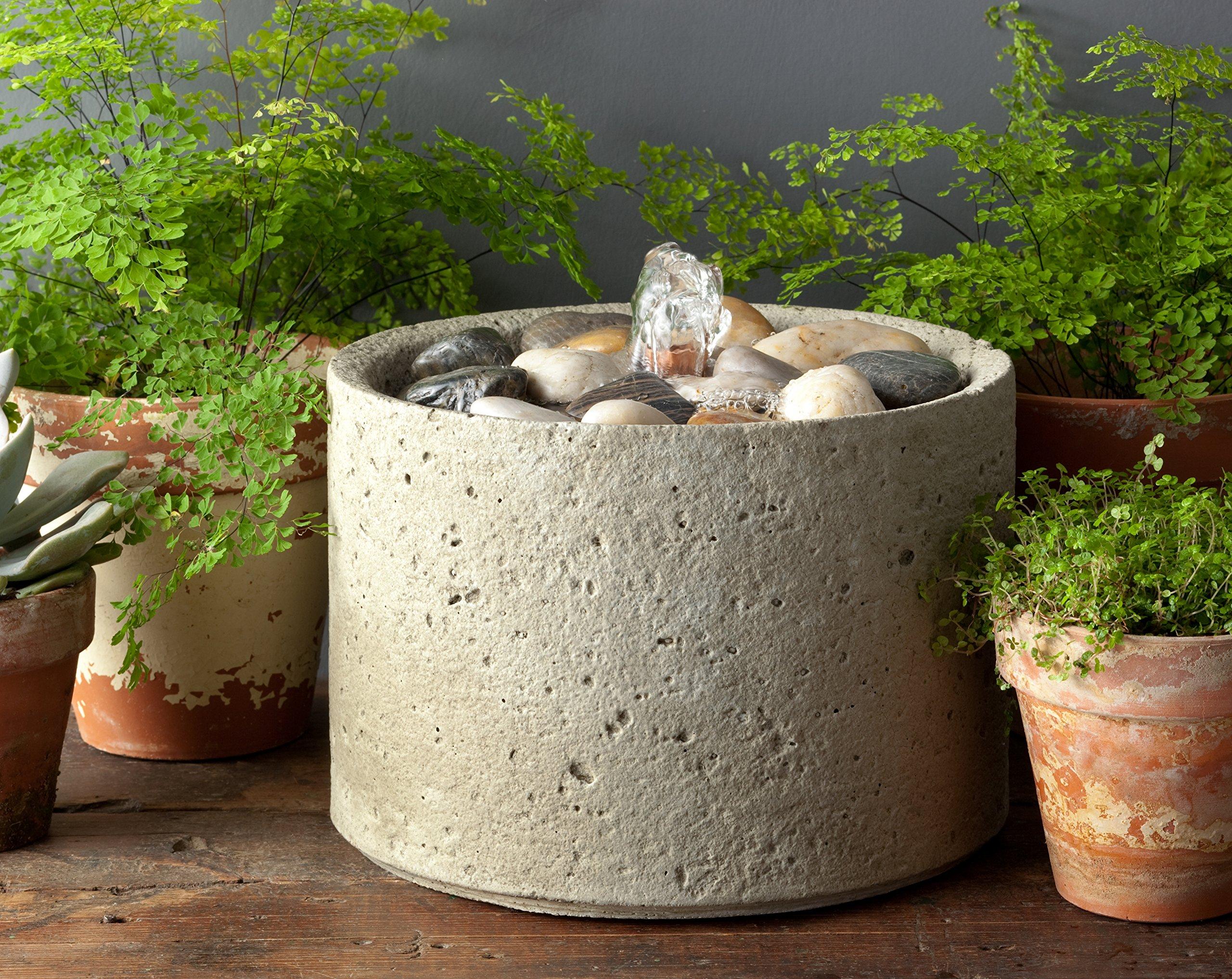 Campania International FT-166-NA M-Series Pebble Fountain, Natural Finish