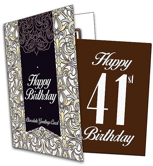 Bonne Chance D Anniversaire 41 Ans Happy 41eme Birthday Chocolate