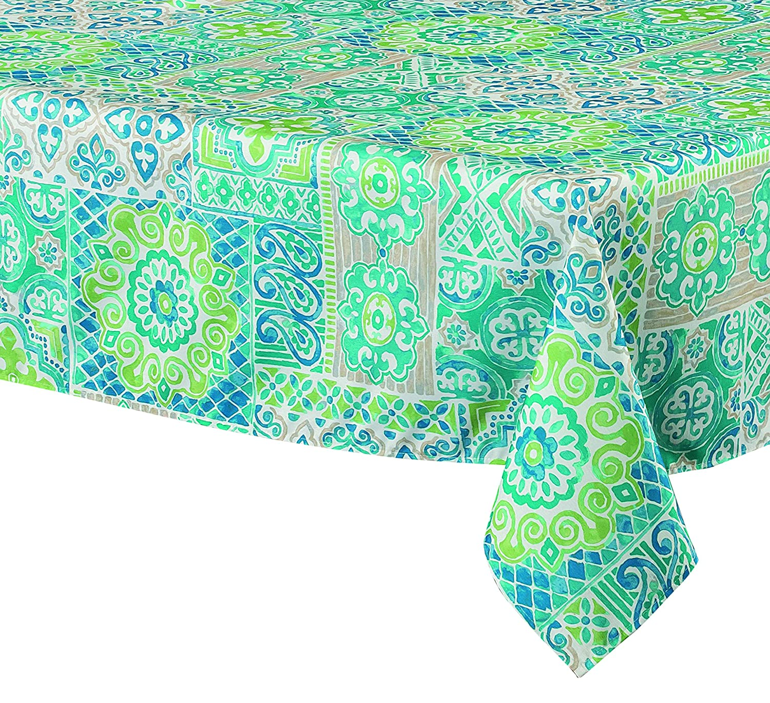 Amazon.com: The Table Corner Suzani Blue Rectangular Tablecloth 60x90 Inch:  Home U0026 Kitchen