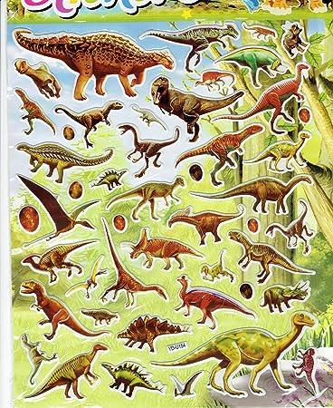 Charo 3d Dino Dinosaurier Bunt Aufkleber 1 Blatt 250 Mm X 200 Mm