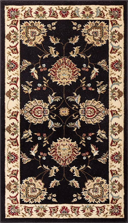 Well Woven Abbasi Black Traditional 2\'3\