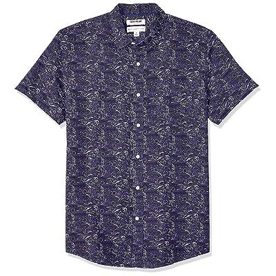 Brand - Goodthreads Men's Standard-Fit Short-Sleeve Linen and Cotton Blend Shirt: Clothing