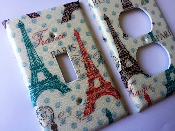Various Size Switchplates Offered Handmade Products Pink French Paris Light Switch Cover Baby