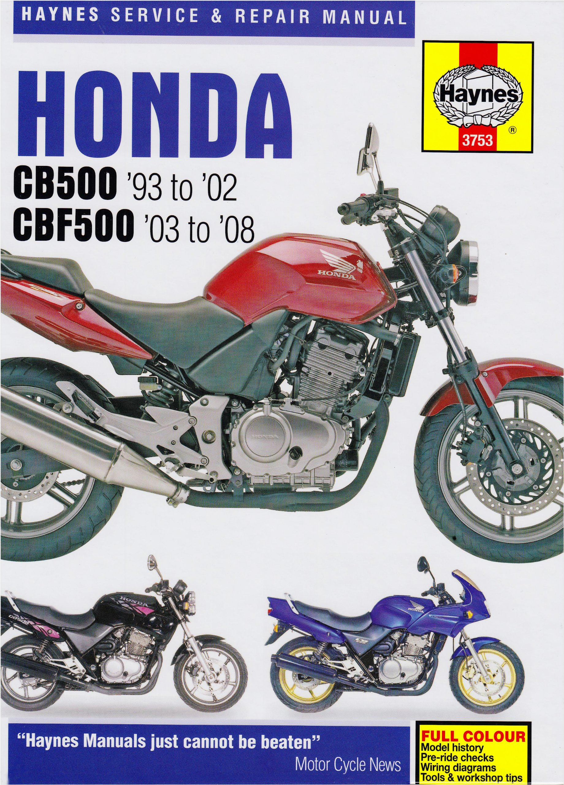 Honda CB500 and CBF500 Twins Service and Repair Manual: 1991 to 2008  (Haynes Service and Repair Manuals): Amazon.co.uk: Phil Mather, Matthew  Coombs: ...