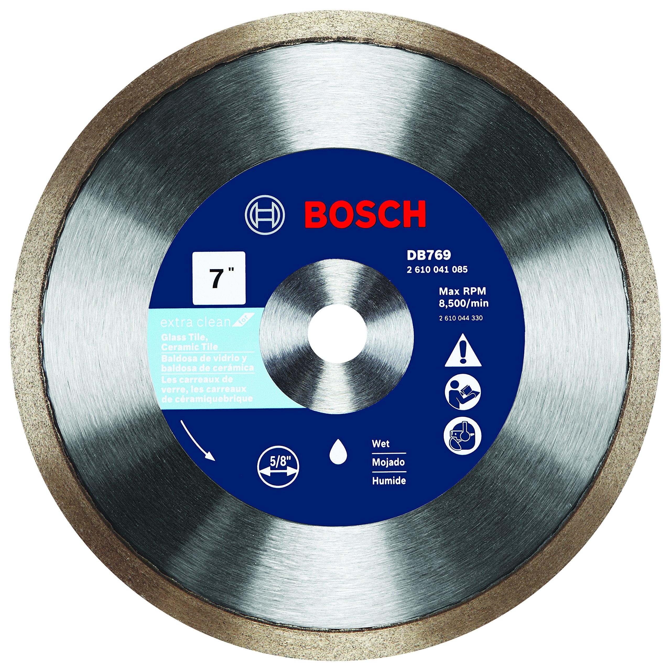 Disco De Diamante Bosch Db769 7 Pulg. De Borde Continuo Premium Rapido Para Azulejos De Vidrio