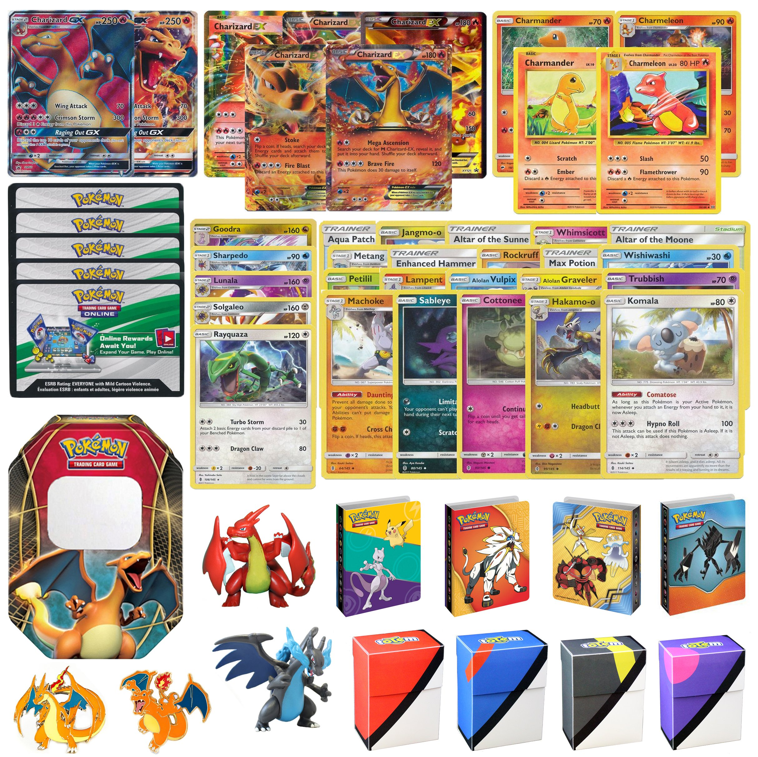 Charizard GX Premium Collection with 1 CHARIZARD GX AND 1 CHARIZARD EX GUARANTEED!