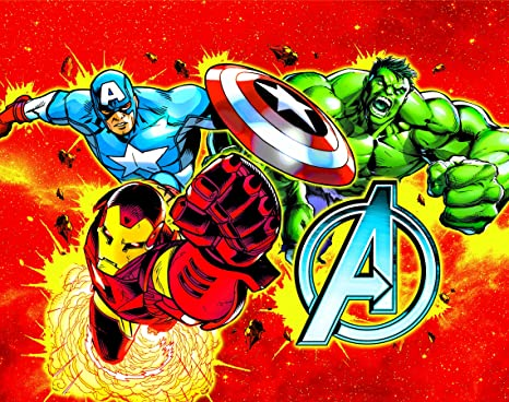 Marvel Vr17av4 Avengers Canvas With Led Light Up Feature Inferno