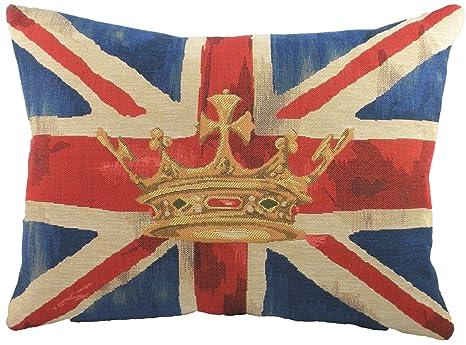 Evans Lichfield Union Jack - Cojín, diseño de corona, color ...