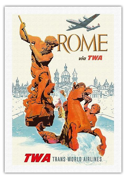 Pacifica Island Art Roma Italia-a través de la TWA (Trans ...