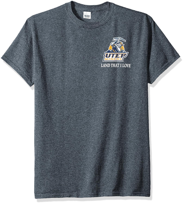 激安通販の NCAAテキサスエルパソMinersフラグGlory半袖シャツ Large Large ダークヘザー B01N217I8E ダークヘザー B01N217I8E, 佐織町:430e08a9 --- a0267596.xsph.ru