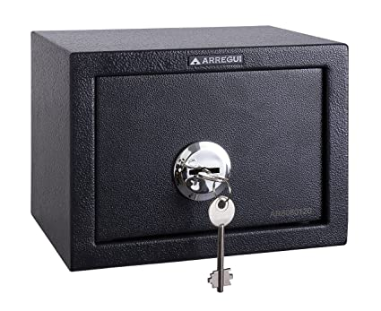 Arregui T17K Caja Fuerte de sobreponer sólo Llave.230x170x170mm, Gris Oscuro, 230 x