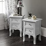 Windsor Bedside Tables Nightstands , Fully Assembled, 34.5cm x 30cm x 49 cm, 2 Stands