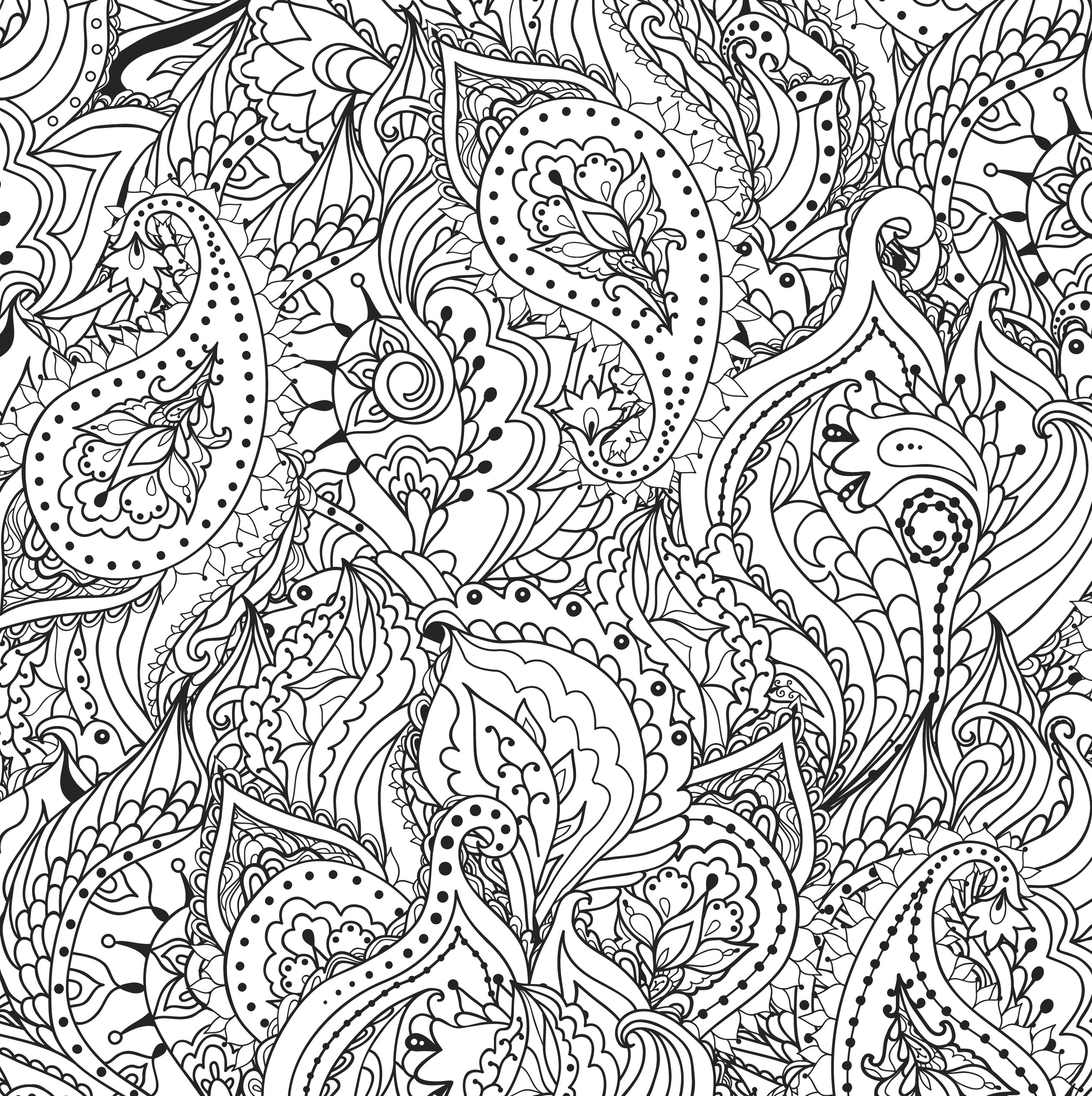 Amazon Peaceful Paisleys Adult Coloring Book stress