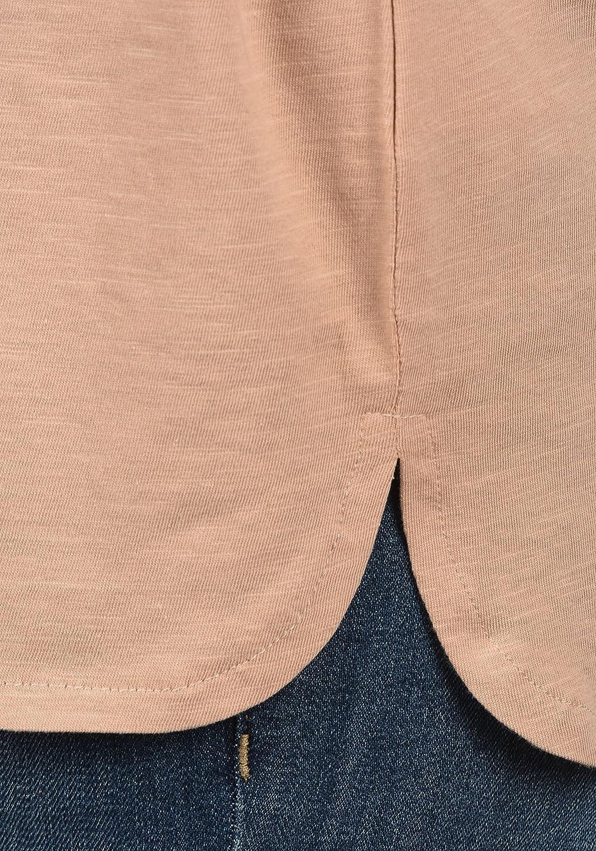 Desires Lynn T-Shirt Maglietta A Maniche Corte da Donna con Collo A V in Cotone 100/%