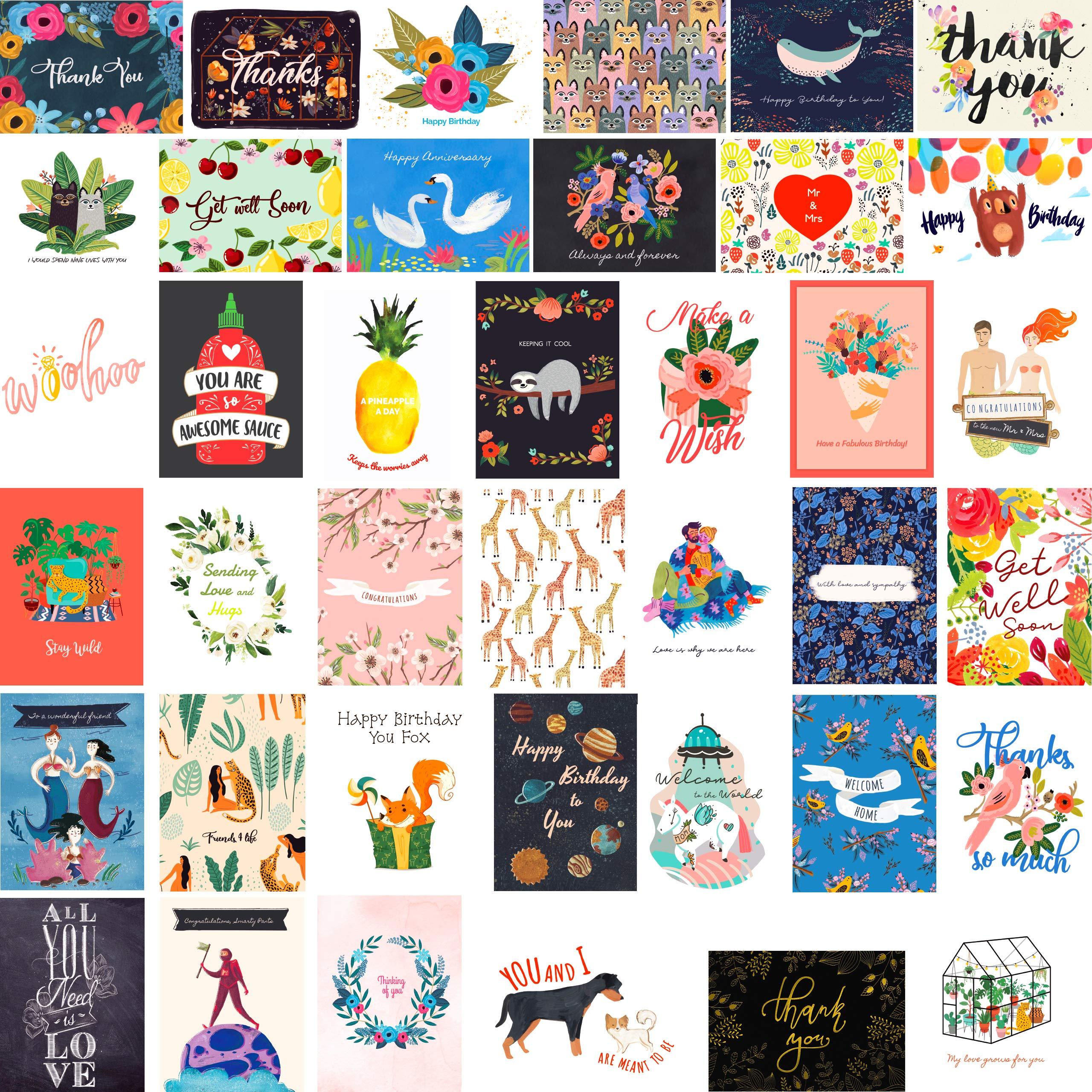 40 Greeting Cards Assortment Birthday Wedding plus
