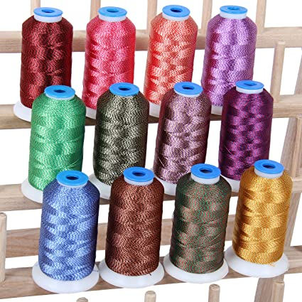 Amazon 12 Cone Color Twist Polyester Embroidery Thread Set