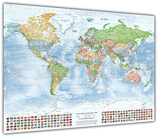 Political world map with flags size 100x70 cm english updated political world map with flags size 100x70 cm english updated 2015 publicscrutiny Gallery