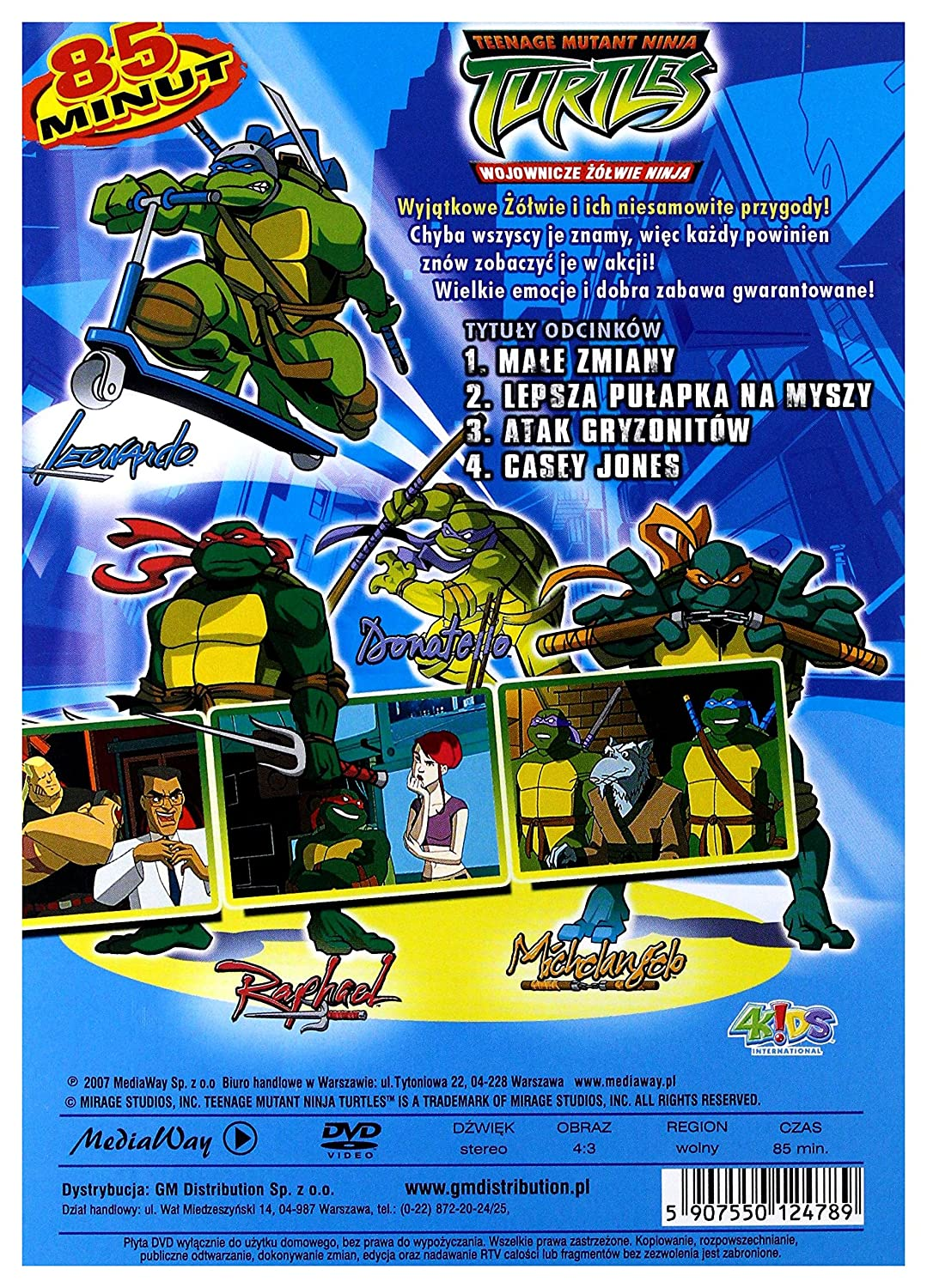 Teenage Mutant Ninja Turtles 1 DVD Region 2 IMPORT No hay ...