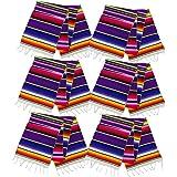 Neasyth Zarape Table Runner Mexican Serape Runners Chakra Tassel Handmade Tablecloth Mexican for Christmas Party Wedding…