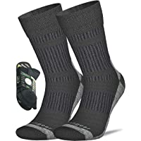 Coolmax Merino Wool Socks for Men & Women - Hiking - Trekking - Trail Walking - Seamless Toe - Cushioned - Breathable…